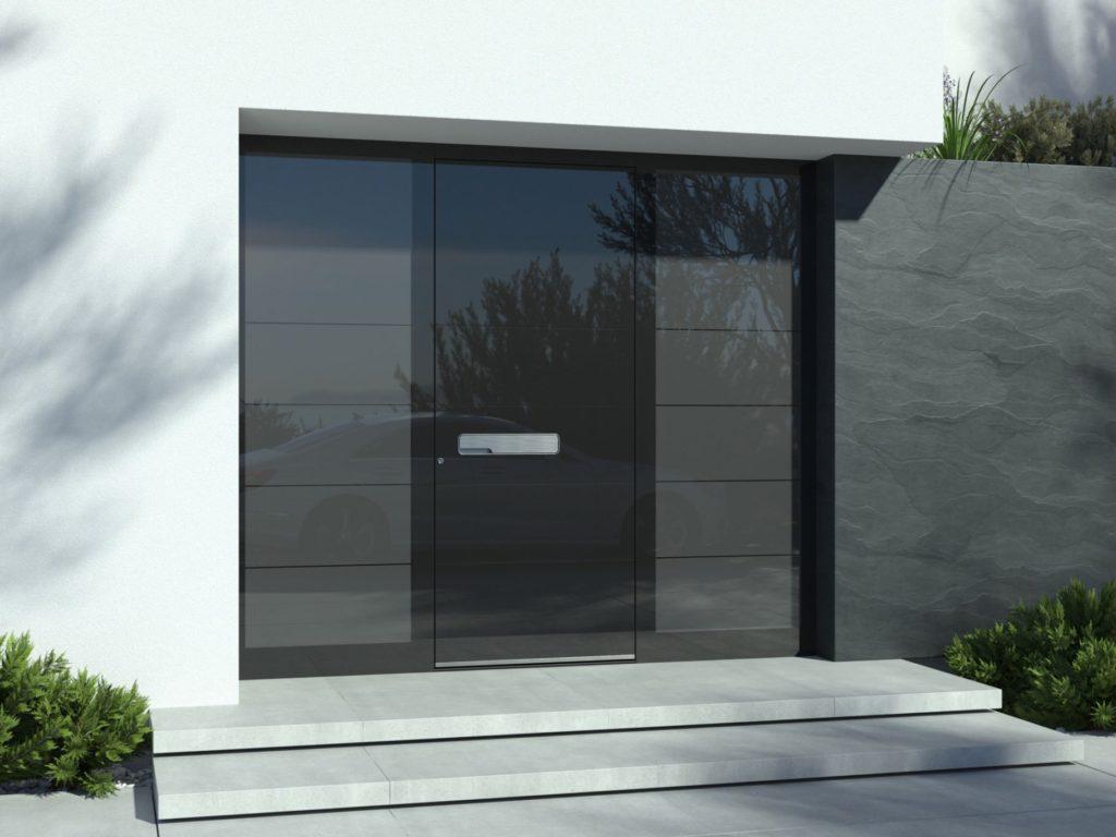 Aluminijasta vhodna vrata