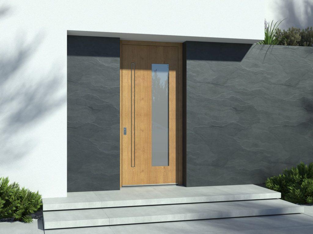 vhodna vrata na prstni odtis